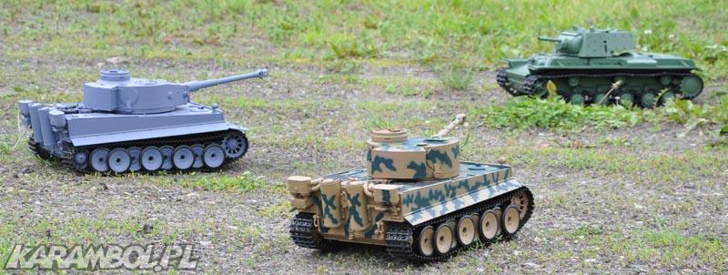 czołgi 1:16 Tiger i KV1